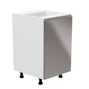 Produkt Spodná skrinka, biela/sivá extra vysoký lesk, pravá, AURORA D601F