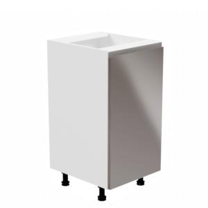 Produkt Spodná skrinka, biela/sivá extra vysoký lesk, pravá, AURORA D40