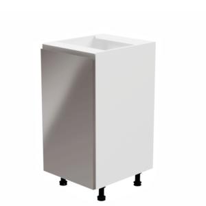 Produkt Spodná skrinka, biela/sivá extra vysoký lesk, ľavá, AURORA D40