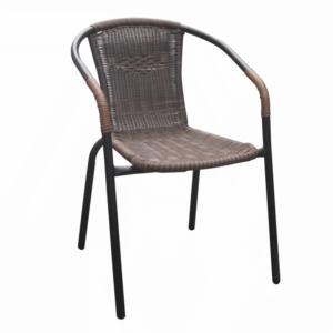 Produkt Stohovateľná stolička, hnedá/čierny kov, DOREN