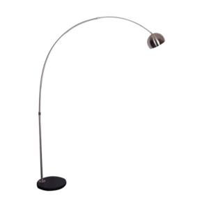 Produkt Oblúková  lampa, nehrdzavejúca oceľ/čierny mramor, CINDA TYP 15 F1034-S