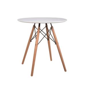Produkt Jedálenský stôl,  biela/buk, GAMIN NEW 60
