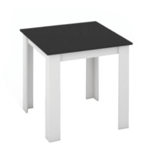 Produkt Jedálenský stôl, biela/čierna, 80×80, KRAZ