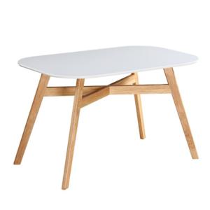 Produkt Jedálenský stôl, biela/prírodná, CYRUS 2 NEW