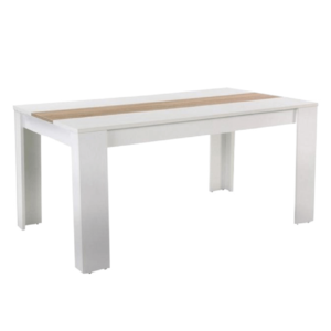Produkt Jedálenský stôl, biela/dub sonoma, RADIM NEW