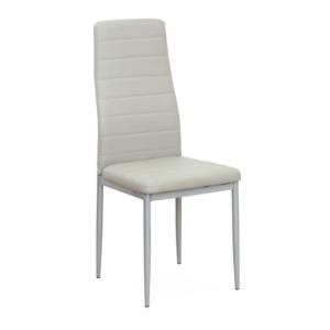 Produkt Stolička, svetlosivá ekokoža/sivý kov, COLETA NOVA