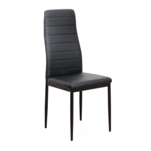 Produkt Stolička, čierna ekokoža/čierny kov, COLETA NOVA