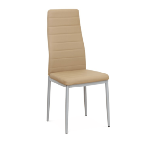 Produkt Stolička, béžová ekokoža/sivý kov, COLETA NOVA
