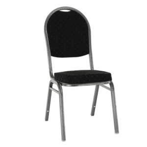 Produkt Stolička, stohovateľná, látka čierna /sivý rám, JEFF 3 NEW