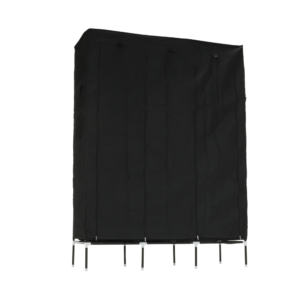 Produkt Šatníkový organizér, látka/kov, čierny, TARON VNW05