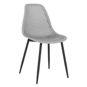 Produkt Jedálenská stolička, sivá/čierna, TEGRA