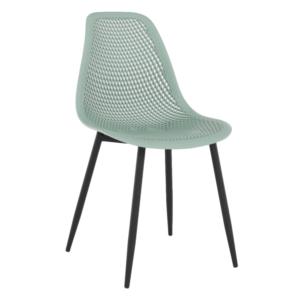 Produkt Jedálenská stolička, zelená/čierna, TEGRA