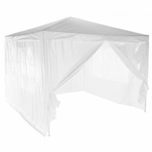 Produkt Záhradný párty stan, biela, 3×3 m, TEKNO TYP 1 + 4 bočné strany
