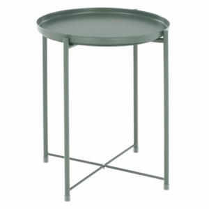 Produkt Príručný stolík s odnímateľnou táckou, zelená, TRIDER