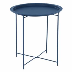 Produkt Príručný stolík s odnímateľnou táckou, tmavomodrá, RENDER