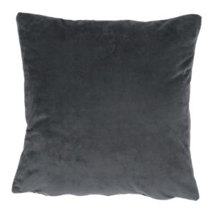 Produkt Vankúš, zamatová látka tmavosivá, 60×60, OLAJA TYP 8