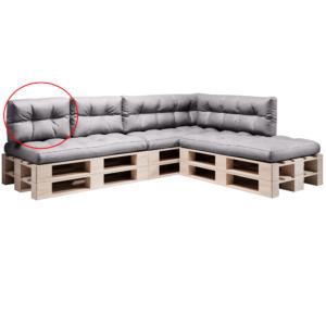 Produkt Vankúš na paletové sedenie, sivá, ANIKA TYP 3