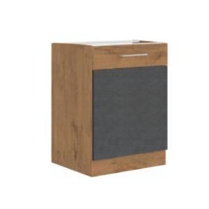Produkt Spodná skrinka, sivá matná/dub lancelot, VEGA 60 D 1F BB