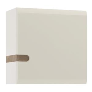 Produkt Skrinka, biela extra vysoký lesk HG/dub sonoma tmavý truflový, LYNATET TYP 65