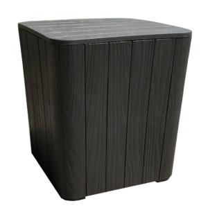 Produkt Záhradný úložný box/príručný stolík, čierna, IBLIS