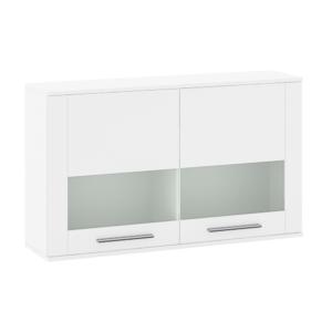 Produkt Závesná vitrína, biela extra vysoký lesk HG, KELEN E