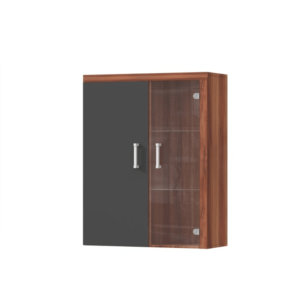 Produkt Závesná vitrína, slivka/sivý grafit, CHERIS 4
