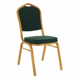 Produkt Stohovateľná stolička, zelená/zlatý náter, ZINA 3 NEW