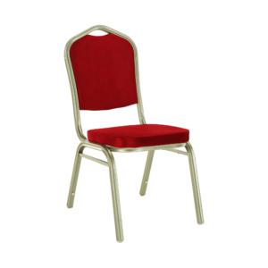 Produkt Stohovateľná stolička, bordová/champagne, ZINA 2 NEW