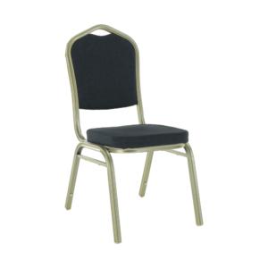 Produkt Stohovateľná stolička, sivá/champagne, ZINA 2 NEW